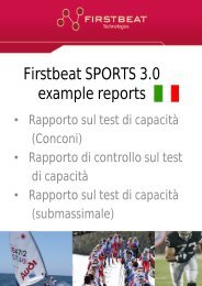 Firstbeat SPORTS 3.0 example reports