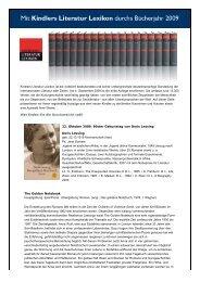 Kindlers Literatur Lexikon - Buchkatalog