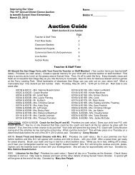 Auction Guide - Kids First Sunset View Elementary | Kids First at ...