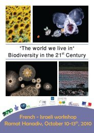 Biodiversity in the 21st Century - The French Scientific Office for ...
