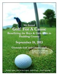 2013 Paulding County Golf Sponsorship Packet - Boys & Girls Clubs ...