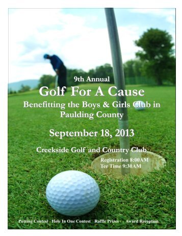 2013 Paulding County Golf Sponsorship Packet - Boys & Girls Clubs ...