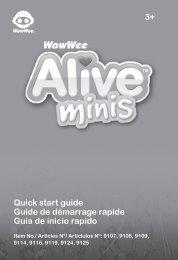 3+ Quick start guide Guide de démarrage rapide Guía de ... - WowWee