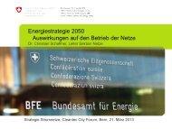 Energiestrategie 2050 - Auswirkungen auf den ... - Cleantec City