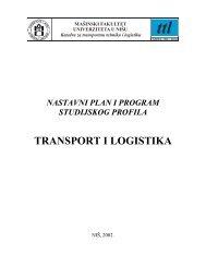 Naučni radovi na skupovima - Katedra za transportnu tehniku i ...