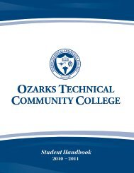 Student Handbook 2010-2011 - Ozarks Technical Community College