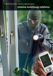 Informacinė namų apsaugos sistema mobiliuoju telefonu