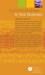 SOCAN's Business is your business