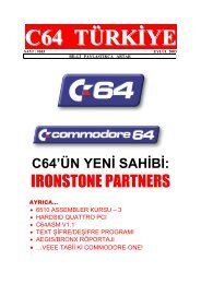 C64 Turkiye - Sayi 03 (Eylul 2003).pdf - Retro Dergi
