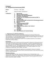 Protokoll 51. Delegiertenversammlung SVPK