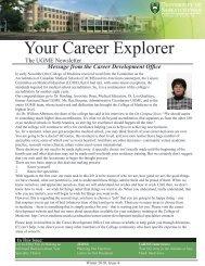 2010, Issue 4 - College of Medicine - University of Saskatchewan