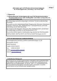 Lärmaktionsplan - Verbandsgemeinde Stromberg