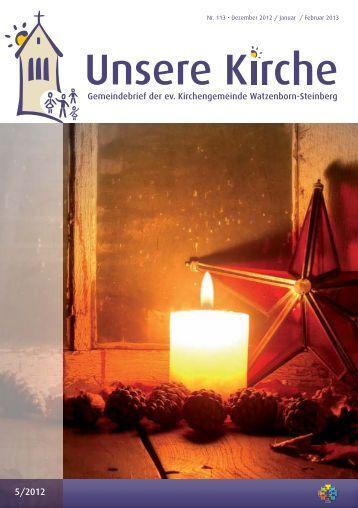 Unsere Kirche 5/2012 Dezember bis Februar - Evangelische ...