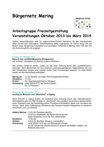 Termindetails Oktober 2013 bis März 2014 (PDF) - Bürgernetz Mering