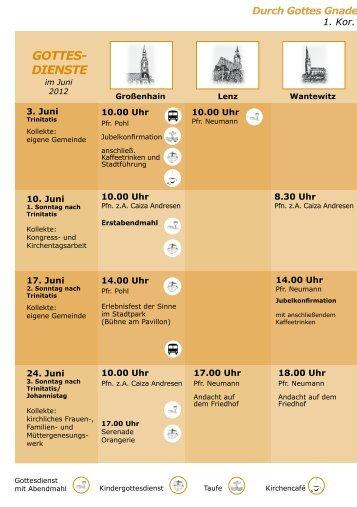 GOTTES- DIENSTE - Kirchspiel Großenhainer Land