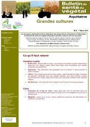 COLZA - Chambre Régionale d'Agriculture Aquitaine