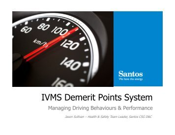 IVMS Demerit Points System - Drillsafe.org.au