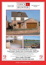 New detached house, Owston Ferry - Grice & Hunter