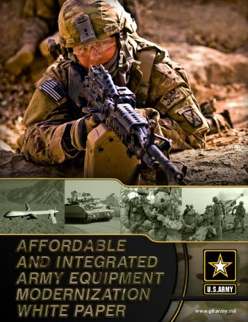 white paper: affordable and integrated army equipment modernization