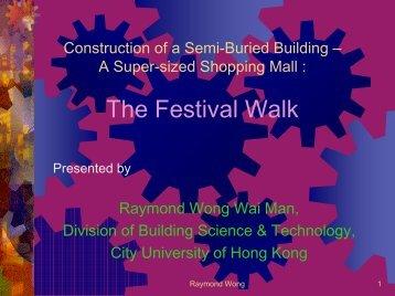 The Festival Walk - City University of Hong Kong
