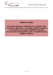 BANDO DI GARA Procedura aperta per realizzazione e sviluppo ...