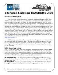 3-5 Force & Motion TEACHER GUIDE - COSI