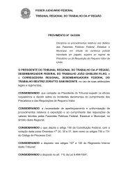 Provimento 04-2008 - Tribunal Regional do Trabalho da 4ª Região