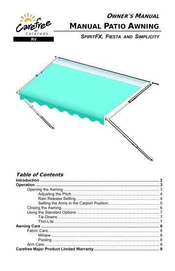 Pioneer Lite Awning Installation Manual
