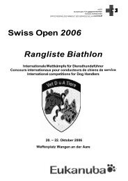 Swiss Open 2006 Rangliste Biathlon