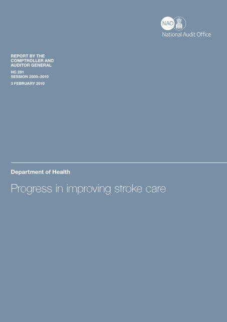 Progress in improving stroke care - National Audit Office