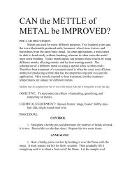 PDF lab for Can the Mettle of Metal be Improved? - Serendip