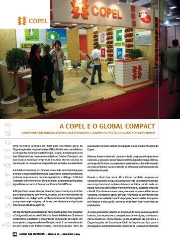 A COPEL E O GLOBAL COMPACT