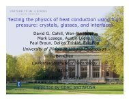 Testing the physics of heat conduction using high pressure: crystals ...