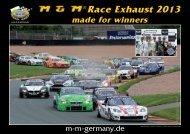Race Exhaust 2013 - M & M Exhaust GmbH