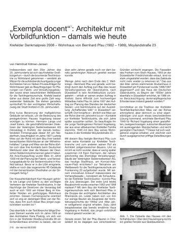 """""""Exempla docent""""1: Architektur mit Vorbildfunktion – damals wie heute"""