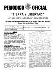 PERIODICO OFICIAL - Gobierno del Estado de Morelos