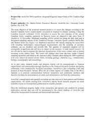Title: Arcticnet Theme 1: Integrated Regional Impact Study of the ...