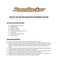 Arctic Cat Air Density Kit Installation Guide - BoonDocker Turbo Kits