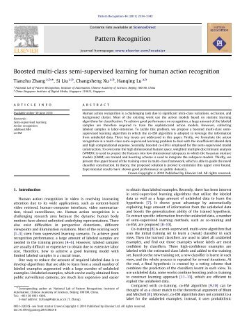 Boosted multi-class semi-supervised learning for human action ...