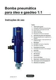 Bomba pneumática para óleo e gasóleo 1:1 Instruções de ... - Pressol
