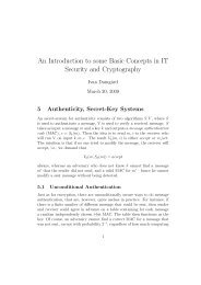 An Introduction to some Basic Concepts in IT Security and ...