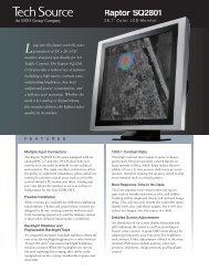 Raptor SQ2801 October 2009 version - Tech Source