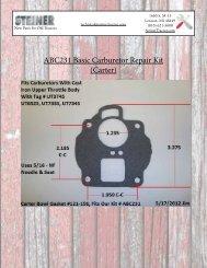 Instructions - Steiner Tractor Parts