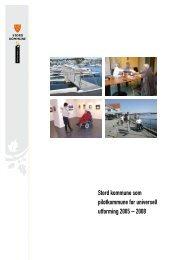 Stord kommune som pilotkommune for universell utforming 2005 ...