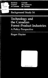 Technology and the Canadian Forest-Product Industries ... - ArtSites