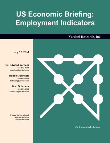 Employment Indicators - Dr. Ed Yardeni's Economics Network