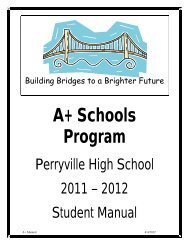 Perryville High School's A+ Schools Program Student Manual