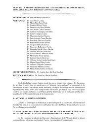 Pleno ordinario del 15 de Abril de 2010 - Ayuntamiento de Linares