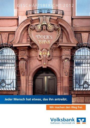 Südhessen eG Geschäftsbericht 2012 - Volksbank Darmstadt