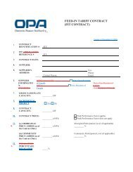 fit contract - Ontario Power Authority - Feed-in Tariff Program